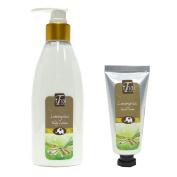 Lemongrass Body Lotion (Promotion Pack, free Hand Cream) buy 1 free 1, natural moisturiser, rice bran oil, shea butter, essential oils