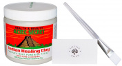 Aztec Secret Indian Healing Clay Deep Cleansing Face Cleanser, Facial Brush for Face Mask, and LP Card