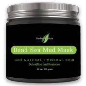 Unaltered Nature Beauty Dead Sea Mud Mask for Facial Treatment, 250g / 260ml