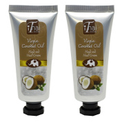 Virgin coconut oil Hand & Nail Cream (Promotional Pack, buy 1 free 1) from organic virgin coconut oil and shea butter, natural moisturiser