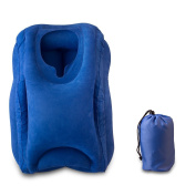 Inflatable Travel Pillow For Aeroplanes- Portable Travel Pillow- Travel Pillow Design For Cars, Trains,Office Napping,Camping