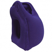 Xueyan Inflatable Daydreamer Face Pillow with Lunch Break Travel Packsack and Luggage Clip - Purple