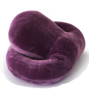 QHYT Travel Pillow for Office Desk or Tray Table, Purple