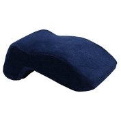 QHYT Desk Napping Pillow Memory Foam Office Rest Cushion for Side Sleeper Blue