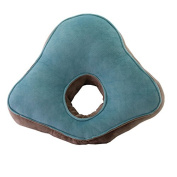 QHYT Travel Pillow for Side Sleeper Office Napping Cushion Flano Green