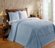 Better Trends/ Pan Overseas Trevor Bedspread, 300cm x 280cm /King, Blue