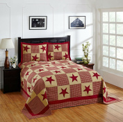 Better Trends/ Pan Overseas Star Bedspread, 210cm x 280cm /Twin, Red Gold