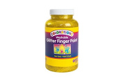 Colorations Washable Glitter Finger Paint, Yellow - 470ml