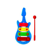 TRENDINAO Baby Infants Wisdom Learning Development Kid 4-Note Guitar Xylophone Musical Toys Blue