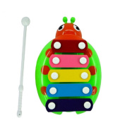 TRENDINAO 2017 Baby Toddlers Wisdom Development New 5-Note Beetle Xylophone Musical Toys Green