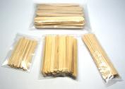 NSI 200 Pc Wood Wax Applicator Stick Assortment for Facial, Eyebrow, Body