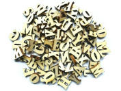 Yalulu 200Pcs Wooden Capital Letter Wood Letters Wooden Numbers for Arts Crafts DIY Decoration