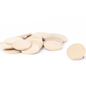 Package of 100 Unfinished Wood 3.2cm Round Disc Cutouts - Ready to Be Painted and Decorated