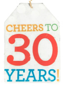 Lot of 6 Tags Cheers to 30 Years Wine Bottle Gift Tag by About Face Designs