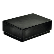 Black Gloss Cotton Filled Small Jewellery Gift Box 10 Pack