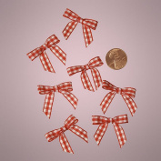 Mini Red and White Gingham Chequered Bows
