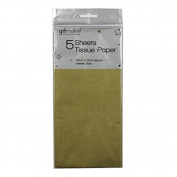 Tissue Paper - Metallic Gold - 5 Sheets - Size 50cm x 70cm