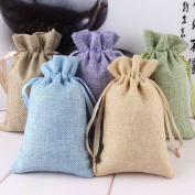 Yulakes 15PCS Burlap Bags,Jute Fabric Bags with Drawstring for Wedding Party