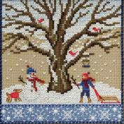 Winter Oak Beaded Counted Cross Stitch Kit Mill Hill 2017 Mighty Oak Quartet Series MH171711