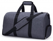 MIER Gym Duffel Bag for Men and Women with Shoe Compartment, Carry On Size, 50cm
