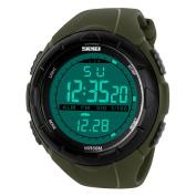 MylooverLeo Mens Big Face Digital Sport Watches with 17-23cm Perimeter 50m Waterproof