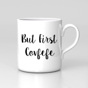But First Tweet Covfefe USA Trump Russia Coffee Tea Funny Spelling Mug Office Cup Meme