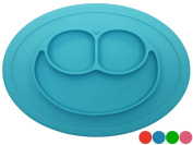 Baby Dröm kids placemats with Divided Suction, No mess toddler, Non-slip silicone placemats, Perfect baby feeding mat + plate - baby placemat