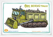Good Glue Ore Mining Truck Placemat