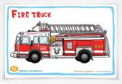 Good Glue Fire Truck Placemat