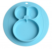 Bela Beno Silicone Placemat + 3 Compartment Plate for Babies, Infants, Toddlers and Kids Suctions To Table | Safe Non-toxic Food Grade Silicone - BPA Free No Smell