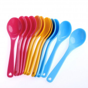 GaoCold 12Pcs Toddler Baby Feeding Safe Plastic Spoon Training Eating Food Set