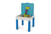 Keter Water Kingdom - Outdoor Sand and Water Table and Waterpark Play Table for Kids, Blue & White