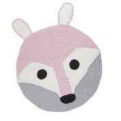 MonkeyJack Cute Handmade Woven Knitted Crochet Floor Mat Kids Home Decor Soft Rug Carpet - Fox, 80x80cm