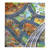 Jili Online Colourful Engineering Scene Baby Play Mat Crawling Carpet Rug Floor Activity Blanket Developmental Toy Kids Gift