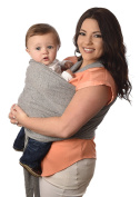 Baby Hearts New Baby Carrier Wrap, Ideal for Nursing Cover or Infinity Scarf, Soft, Stretchy Material, Heather Grey