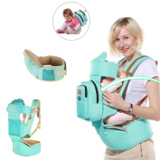 Ergonomic Baby Carrier Hipseat 6 Carry Ways, All Seasons Infants & Toddlers Sling, Best Baby Shower Gift