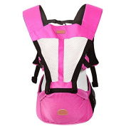 ThreeH Baby Carrier 4 Carry Positions Breathable Mesh For Infants BC03,Pink