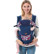 ThreeH Baby Carrier for Newborns Breathable With Hip Seat & Pockets BC09,Blue