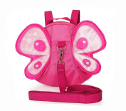 Kids Insulated Toddler Backpack with Safety Harness Leash - Playful Preschool Lunch Boxes Carry Bag - Butterfly