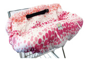 Itzy Ritzy Sitzy Shopping Cart and High Chair Cover, Ombre Dot, Pink