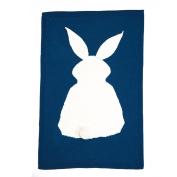 MOONHOUSE Lovely Kids Rabbit Knitting Blanket Bedding Play Blanket Quilt