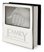 """Silver Plated Family Message Photo Album / Frame - """"Family, today's little moments become tomorrow's precious memories"""""""