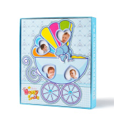 "FaCraft Baby Boy Photo Album Holds 80 4x6 Photos ""Happy Smile"" with Gift Storage Box"