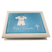 Russ Berrie & Co Baby's Keepsakes I Believe Blue Photo Album Baby Boy