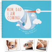 PREGNANCY JOURNAL - Treasure Your Belly Growth Process Forever. A Memory Book Perfect For New Moms. Baby Shower Present Ideas, Gifts For First Time Moms, Best Gifts For Dad.