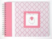 Baby Memory Book | Lamb Baby Book | Pink Lattice