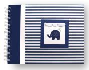 Baby Memory Book | Elephant Baby Book | Navy Stripes