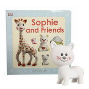 Sophie and Friends La Giraffe Toy Set Lazare The Cat Rattle with Sophie and Friends Book