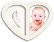 New 2017 Design, Newborn Babyprints Kit - Baby Handprint and Footprint Photo Frame Keepsake. Cool & Unique Gift Idea for Baby Boys and Girls. HFF White
