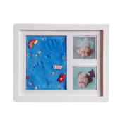 KMMall Baby Hand and Footprint Picture Frame Kit My First Year Memory Keepsake Baby Shower or Maternity Gift